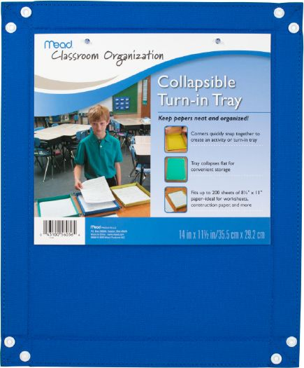 Mead Collapsible Paper Tray - Classroom & Office Storage