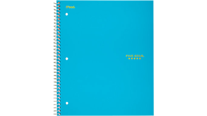 Five Star Trend Wirebound College Ruled Notebook 3 Subject  (06050)
