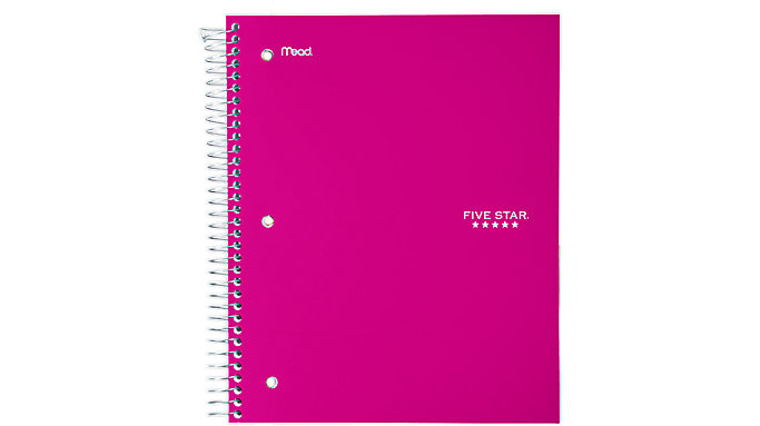 Five Star Trend Wirebound Wide Ruled Notebook 3 Subject  (05244C)