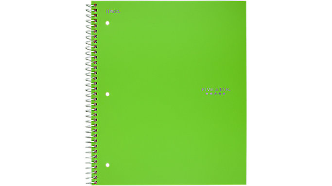 Five Star Trend Wirebound Wide Ruled Notebook 5 Subject  (05250C)