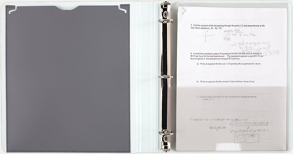 five star 1 inch 3 ring binder view binder customizable cover