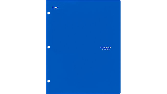 Five Star 4-Pocket Plastic Folder  (33406)