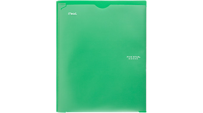 Five Star Customizable Pocket and Prong Plastic Folder  (34136)