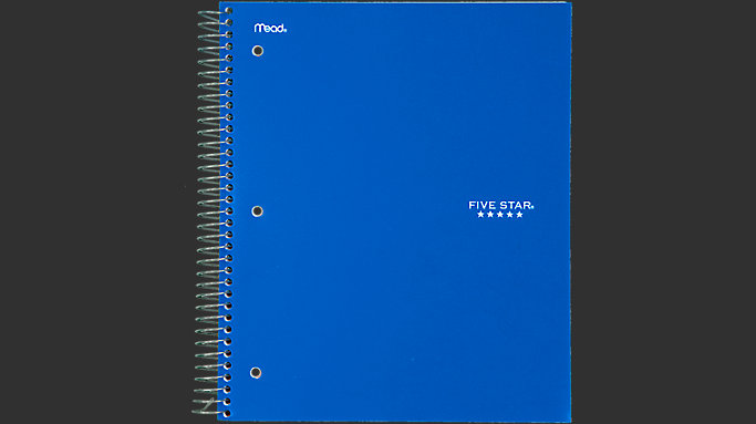 Five Star Wirebound College Ruled Notebook - 3 Subject