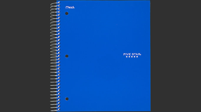 Top Twelve Five Star 5 Subject Notebook Wide Ruled {Kwalai}