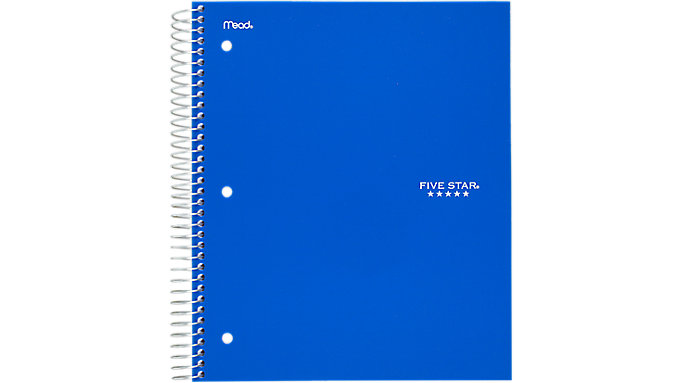Five Star Wirebound College Ruled Notebook 5 Subject  (06208)