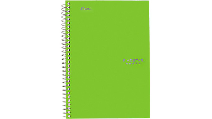 Five Star Wirebound College Ruled Notebook 5 Subject  (06184)