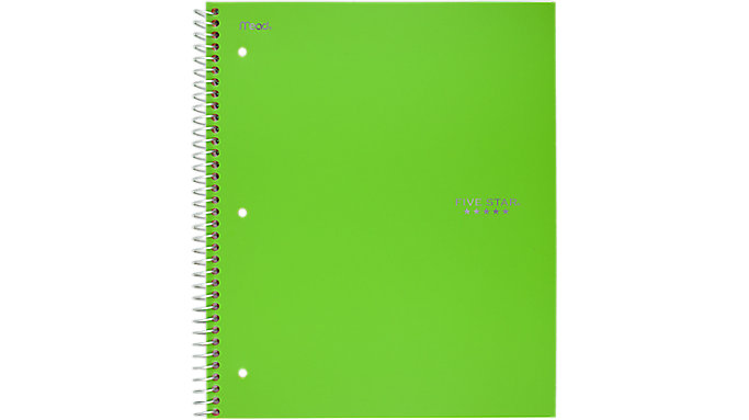 Five Star Wirebound College Ruled Notebook 2 Subject  (06188)
