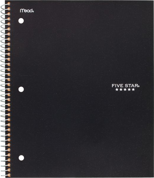 Wirebound Quad Notebook 1 Subject, 06190 By Five Star