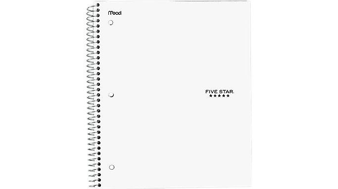 Five Star Wirebound Quad Notebook 1 Subject  (06190)