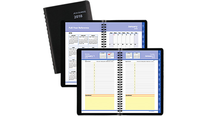AT-A-GLANCE QuickNotes Daily-Monthly Appointment Book  (7604)
