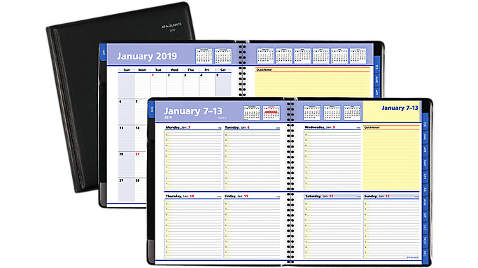 AT-A-GLANCE QuickNotes Weekly-Monthly Appointment Book  (7605)