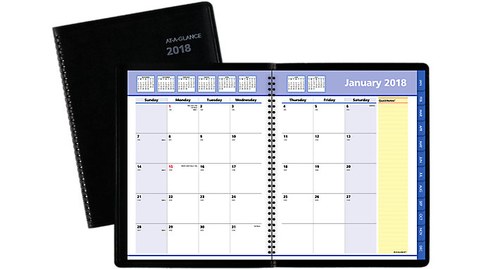 AT-A-GLANCE QuickNotes Monthly Planner  (7606)