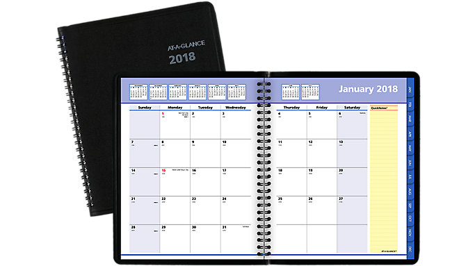 AT-A-GLANCE QuickNotes Monthly Planner  (7608)