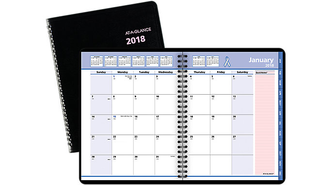 AT-A-GLANCE QuickNotes Breast Cancer Awareness Monthly Planner  (76PN08)