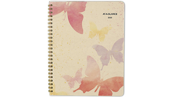 AT-A-GLANCE Watercolors Recycled Monthly Planner  (791-800G)