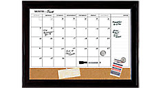 Magnetic Dry Erase Combination Calendar Board with Frame 23x17 (Item # 79275)
