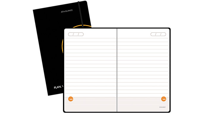 AT-A-GLANCE PLAN. WRITE. REMEMBER. Perfect Bound Notebook with Date Box  (806123)