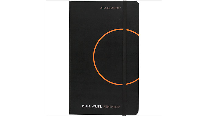 AT-A-GLANCE Perfect Bound Notebook with Date Box  (806124)