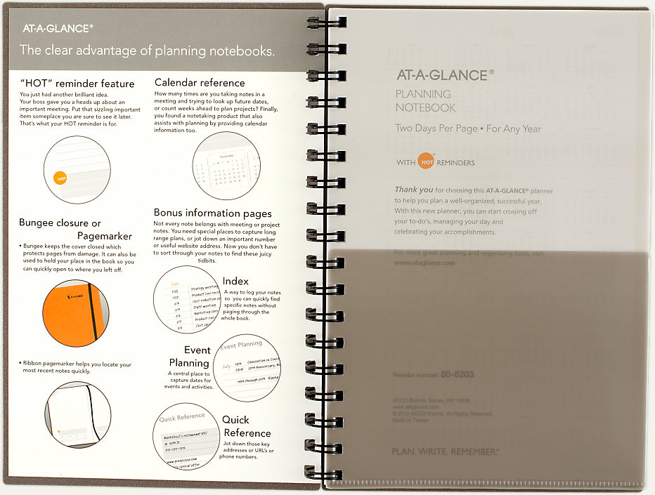 Two Days Per Page Planning Notebook | 806203 | AT-A-GLANCE