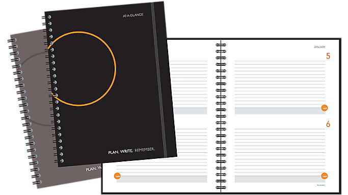 AT-A-GLANCE 2-Days-Per-Page Planning Notebook  (806204)