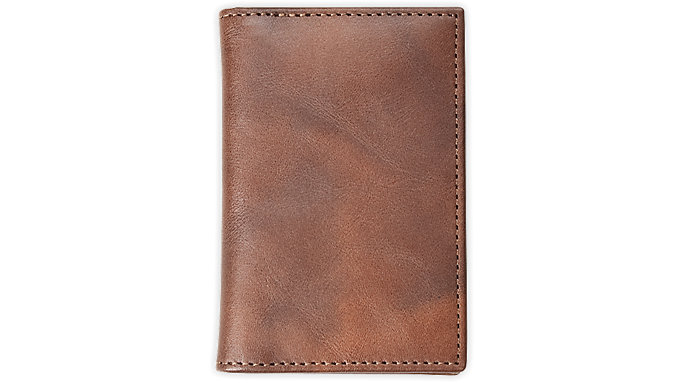 Day-Timer Distressed Leather Business Card Holder Compact Size  (80674)