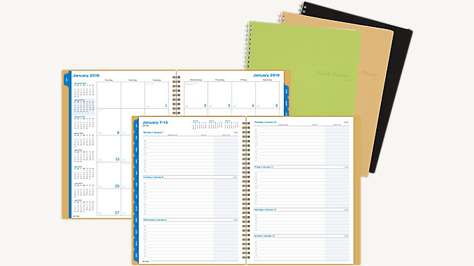 bonded leather weekly monthly business planner 87766 day timer