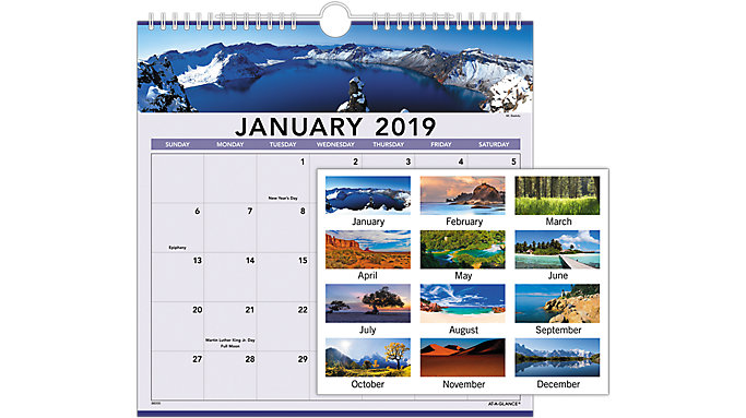 AT-A-GLANCE Landscape Monthly Wall Calendar  (88200)