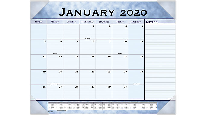 AT-A-GLANCE Slate Blue Monthly Desk Pad  (89701)