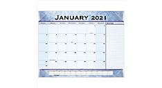 Slate Blue Monthly Desk Pad Calendar (Item # 89701)