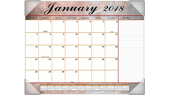 AT-A-GLANCE Marbled Monthly Desk Pad  (89702)