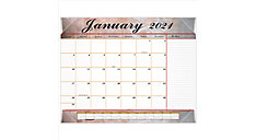 Marbled Monthly Desk Pad Calendar (Item # 89702)