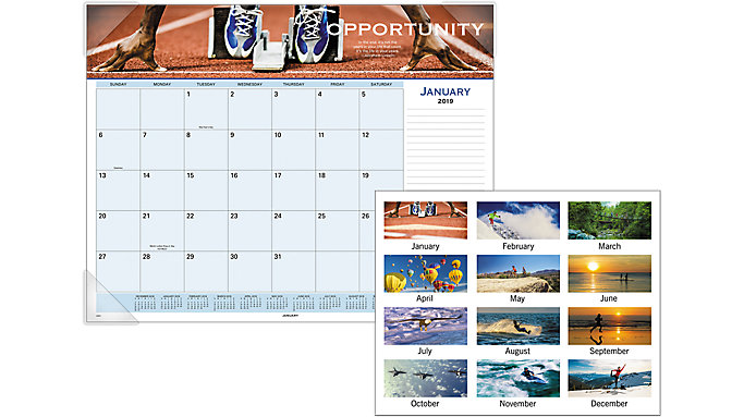 AT-A-GLANCE Motivational Panoramic Monthly Desk Pad  (89801)