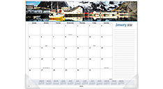 Seascape Panoramic Monthly Desk Pad (Item # 89803)