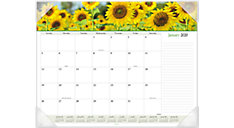 Floral Panoramic Monthly Desk Pad (Item # 89805)