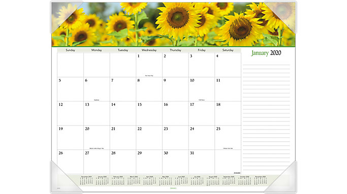 AT-A-GLANCE Floral Panoramic Monthly Desk Pad  (89805)