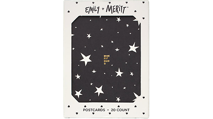 Emily + Meritt The Foiled Artist Star Postcard Set  (90045)