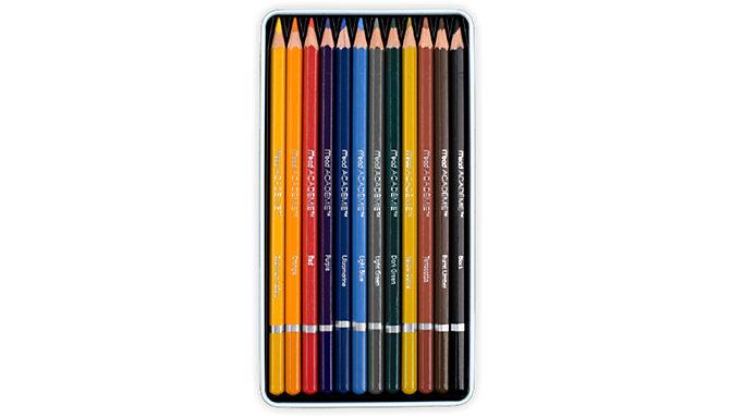 Mead Academie 12 Colour Pencils Tin  (98006)