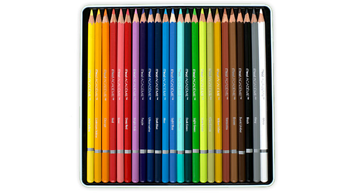 Mead Academie 24 Colour Pencils Tin  (98012)