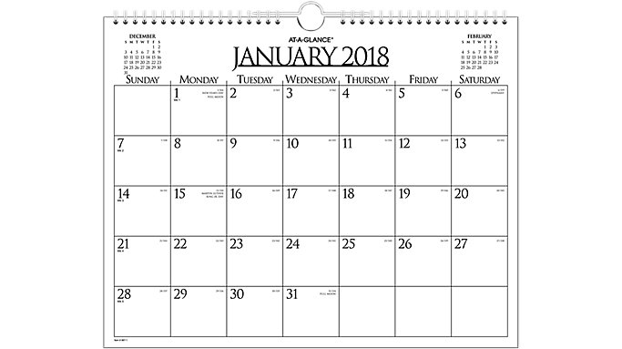 AT-A-GLANCE Business Monthly Wall Board Calendar  (997-1)