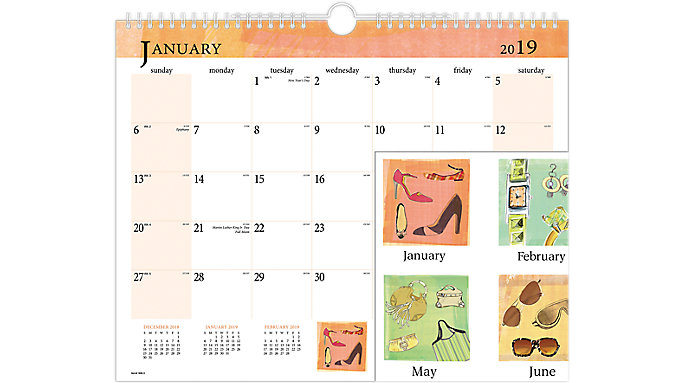 AT-A-GLANCE Inspired Monthly Wall Board Calendar  (998-3)