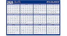 Horizontal Erasable Wall Calendar (Item # A102)