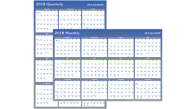 AT-A-GLANCE 2-Sided Erasable Wall Calendar  (A1102)