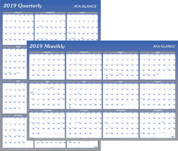 At-A-Glance 2-Sided Erasable Wall Calendar -