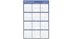 Vertical-Horizontal Reversible Erasable Wall Calendar (Item # A1102)