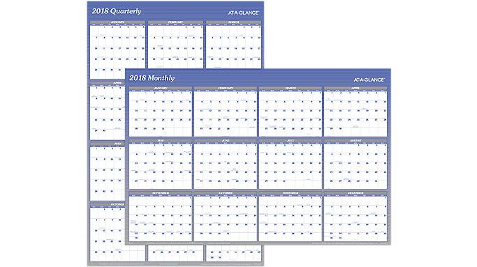 AT-A-GLANCE XL 2-Sided Erasable Wall Calendar  (A1152)