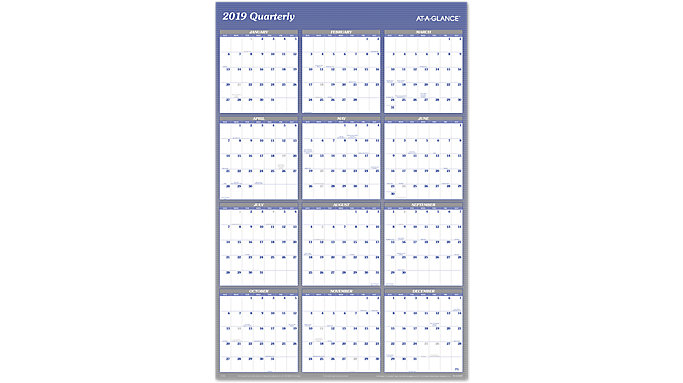 AT-A-GLANCE XL 2-Sided Erasable Wall Calendar  (A1152)