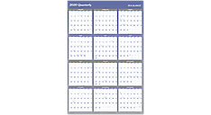 XL 2-Sided Erasable Wall Calendar (Item # A1152)
