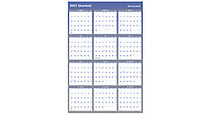 Vertical/Horizontal Reversible Erasable Wall Calendar (Item # A1152)