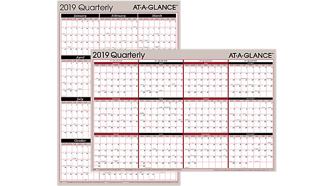 AT-A-GLANCE 2-Sided Erasable Wall Calendar  (A123)